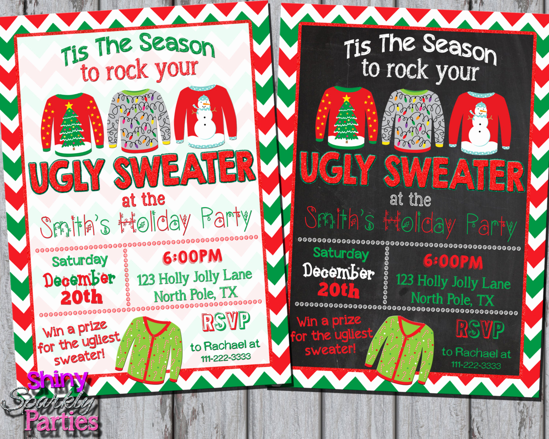 Ugly Christmas Sweater Invitation Fresh Ugly Sweater Invitation Ugly Christmas Sweater Party Invite