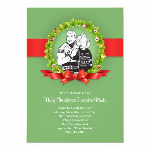 Ugly Christmas Sweater Invitation Inspirational Ugly Christmas Sweater Party Invitations
