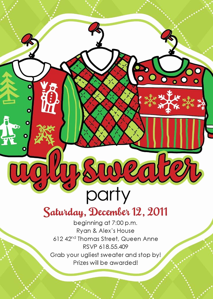 Ugly Christmas Sweater Invitation New 60 Best Christmas Ugly Sweater Party Images On Pinterest