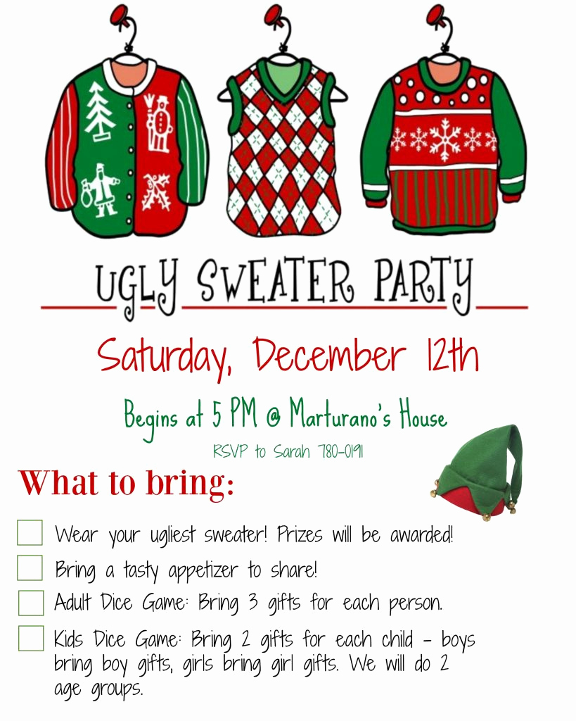 Ugly Christmas Sweater Invitation Template Lovely How to Host An Ugly Christmas Sweater Party Must Have Mom
