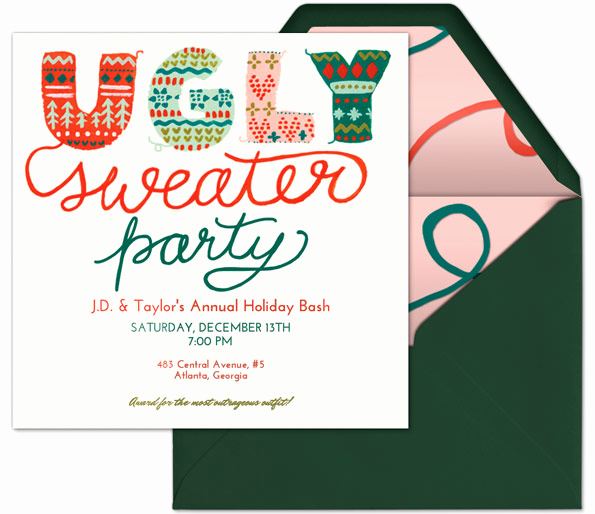 Ugly Christmas Sweater Invitation Template Luxury How to Host An Ugly Sweater Party Evite