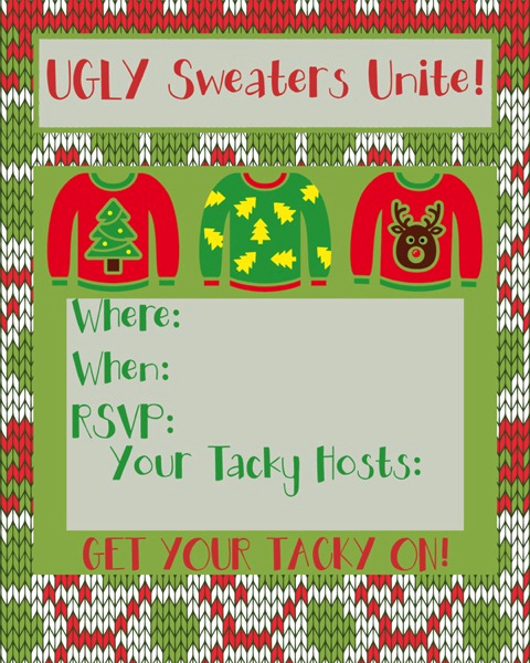 Ugly Christmas Sweater Invitation Unique Ugly Sweater Party Time Free Printable Invites and More