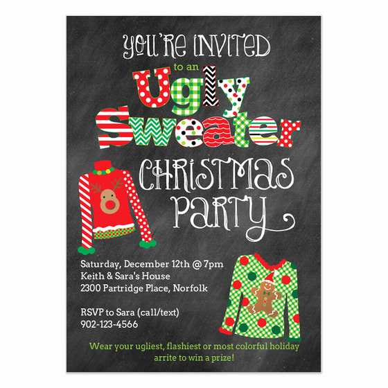 Ugly Christmas Sweater Party Invitation Beautiful Ugly Christmas Sweater Party Invitation Invitations