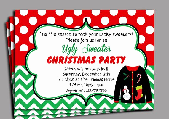 Ugly Christmas Sweater Party Invitation Lovely Items Similar to Christmas Ugly Sweater Party Invitation