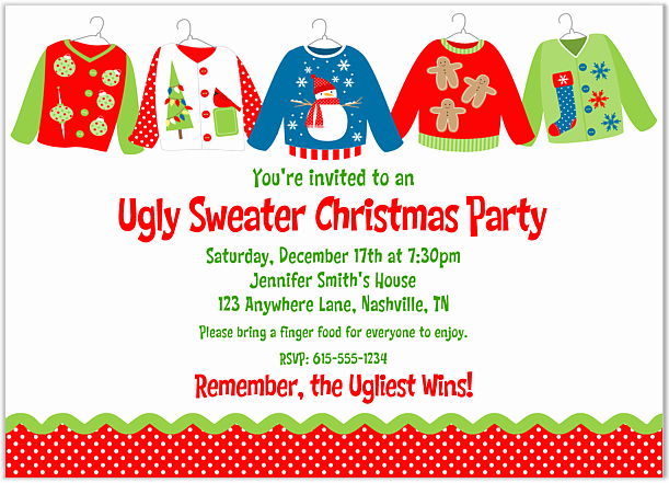 Ugly Christmas Sweater Party Invitation Lovely Lady Scribes Tis the Season for Ugly Sweaters