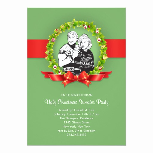 Ugly Christmas Sweater Party Invitation Lovely Ugly Christmas Sweater Party Invitations