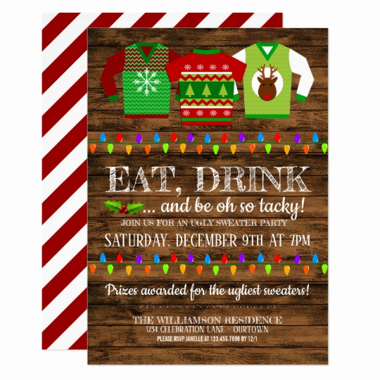 Ugly Sweater Christmas Party Invitation Awesome Fun Ugly Christmas Sweater Party Invitation
