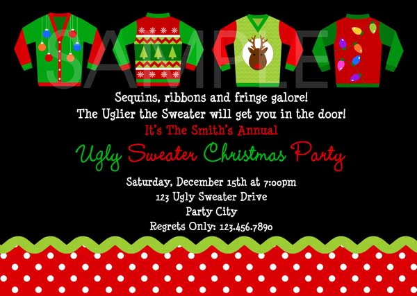 Ugly Sweater Christmas Party Invitation Inspirational Ugly Christmas Sweater Party Ideas Christmas Celebration