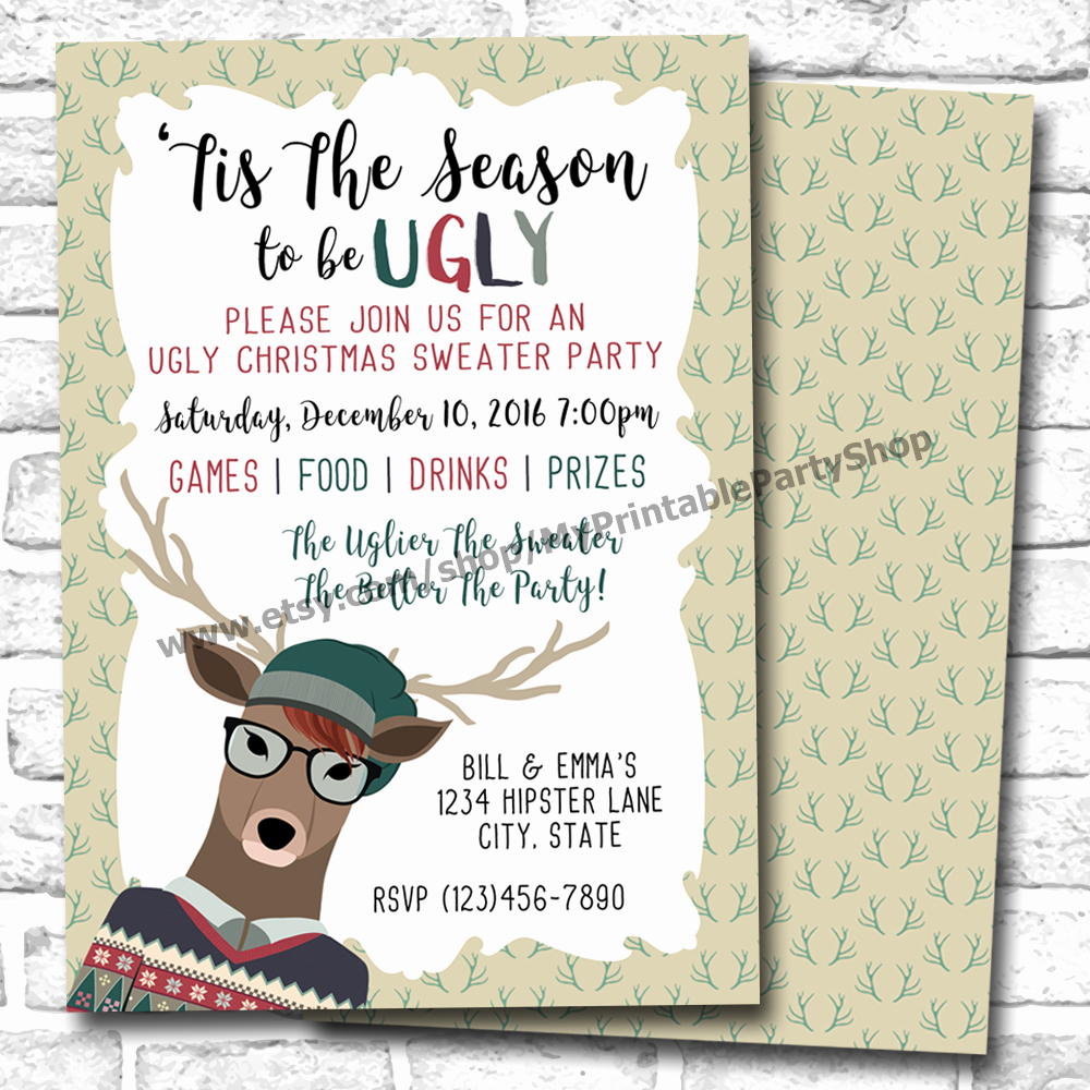 Ugly Sweater Christmas Party Invitation Inspirational Ugly Christmas Sweater Party Invitations for the Most