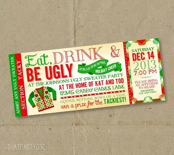 Ugly Sweater Christmas Party Invitation New 12 Ugly Sweater Invitations Christmas Party