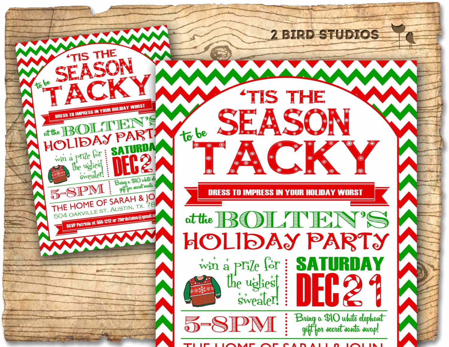 christmas party invitation ugly sweater