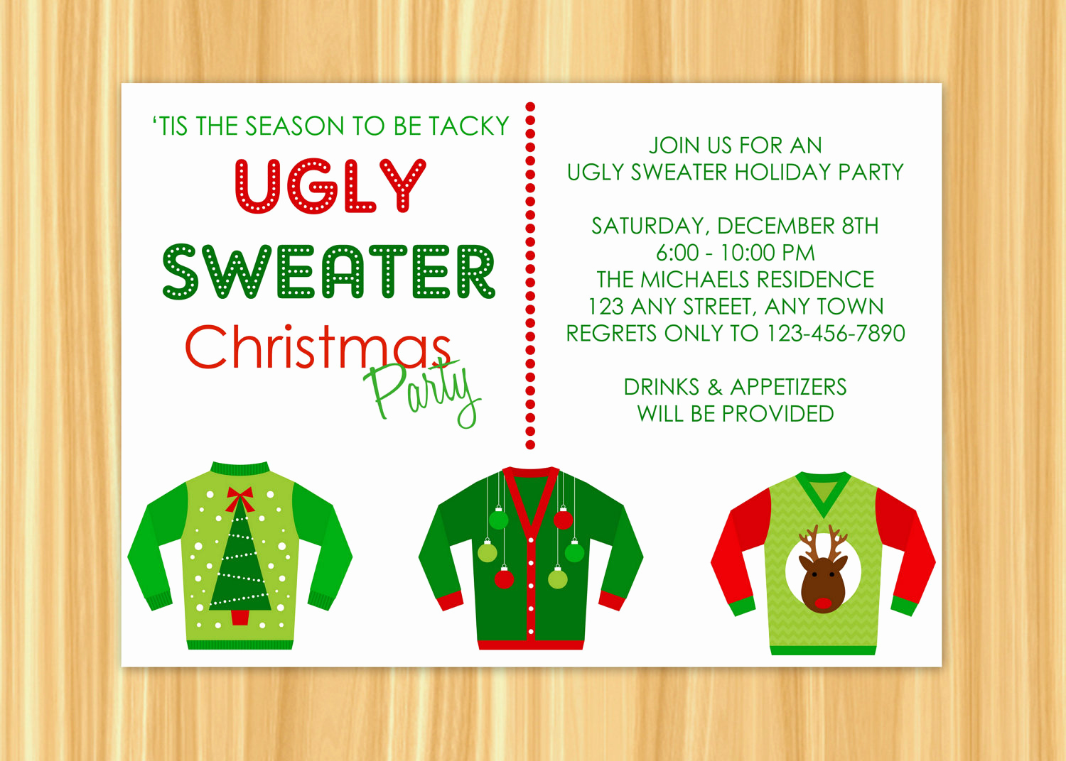 Ugly Sweater Christmas Party Invitation Unique Ugly Sweater Invitation Ugly Sweater Holiday Party