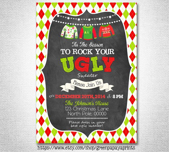 Ugly Sweater Contest Invitation Lovely 17 Best Ideas About Ugly Sweater Party On Pinterest