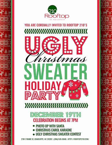 Ugly Sweater Contest Invitation Lovely Ugly Christmas Sweater Holiday Party 12 19 2015