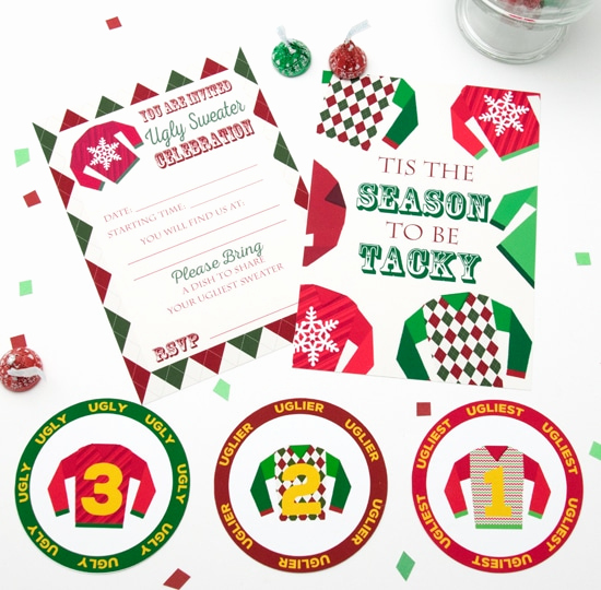 Ugly Sweater Contest Invitation Lovely Ugly Sweater Party Invitations and Medals Free Printable