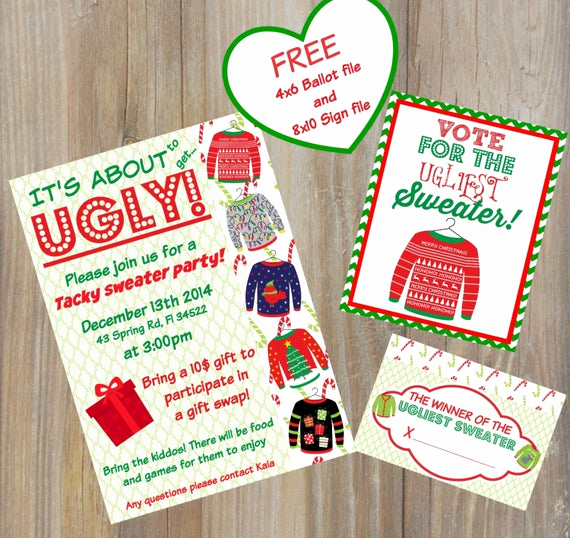 Ugly Sweater Contest Invitation Luxury Tacky Sweater Invitations Ugly Sweater Invitations