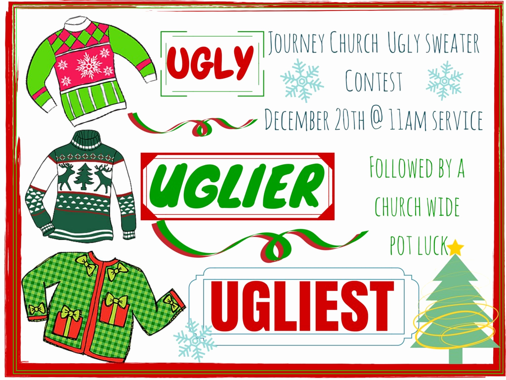Ugly Sweater Contest Invitation Luxury Ugly Sweater Contest and Pot Luck