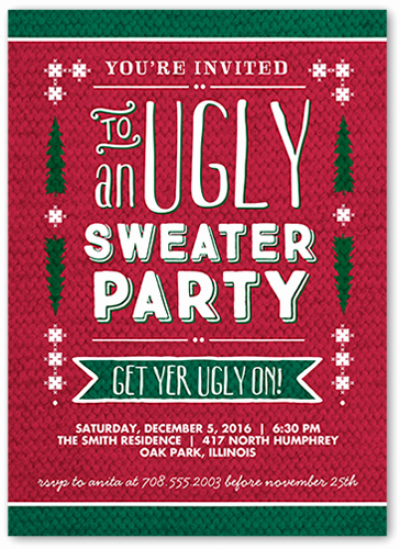 Ugly Sweater Invitation Ideas Awesome Christmas Party Ideas for Everyone