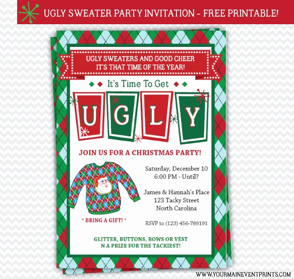 Ugly Sweater Invitation Ideas Best Of 13 Best Images About Ugly Sweater Party On Pinterest
