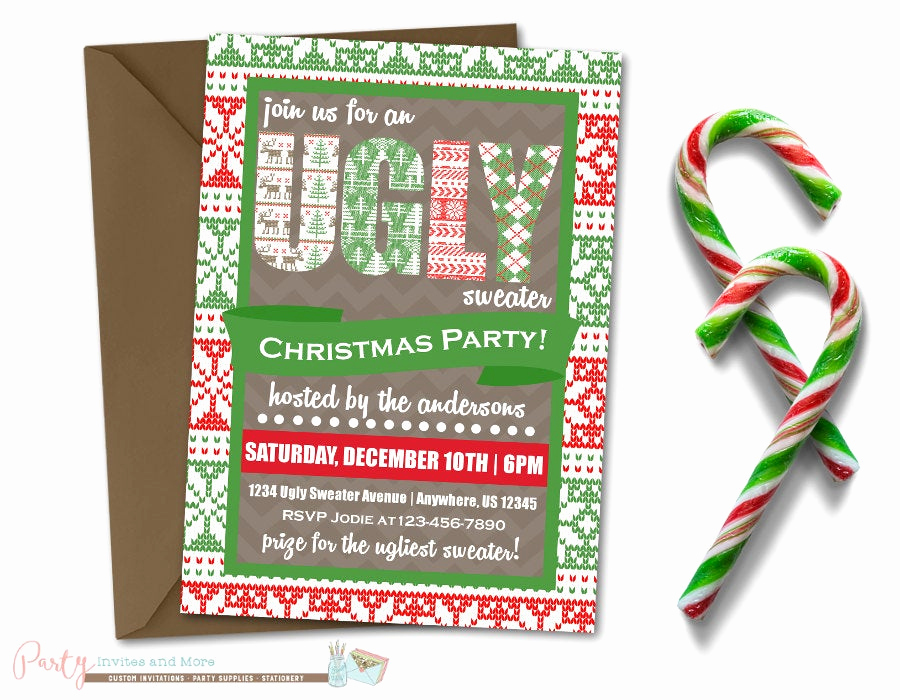 ugly sweater invitation ugly sweater