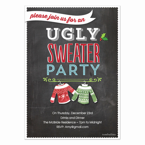 Ugly Sweater Invitation Template Free Awesome Holiday Invite Ugly Sweater Party Invitations & Cards On