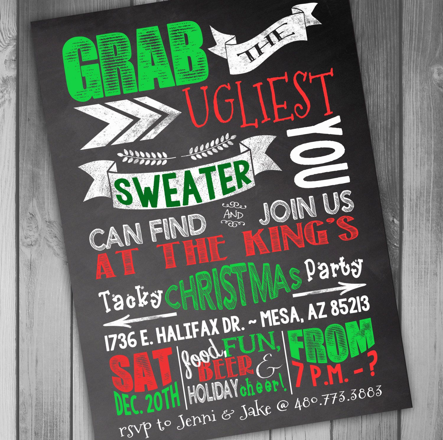 Ugly Sweater Invitation Template Free Fresh Christmas Party Invitation Ugly Christmas Sweater Party