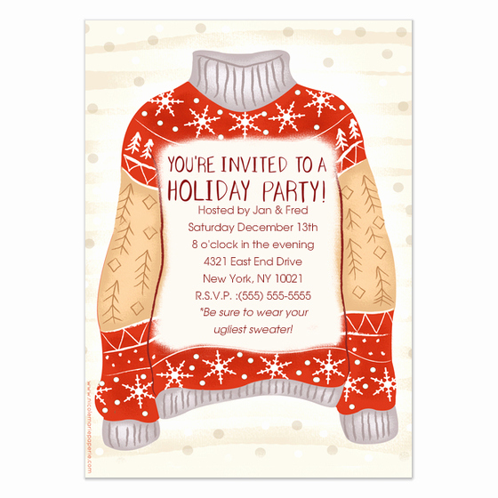 Ugly Sweater Invitation Template Free Fresh Ugly Sweater Holiday Party Invitations & Cards On Pingg