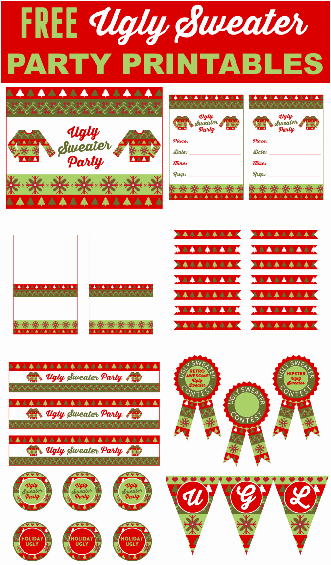 Ugly Sweater Invitation Template Free Luxury Free Ugly Sweater Party Printables