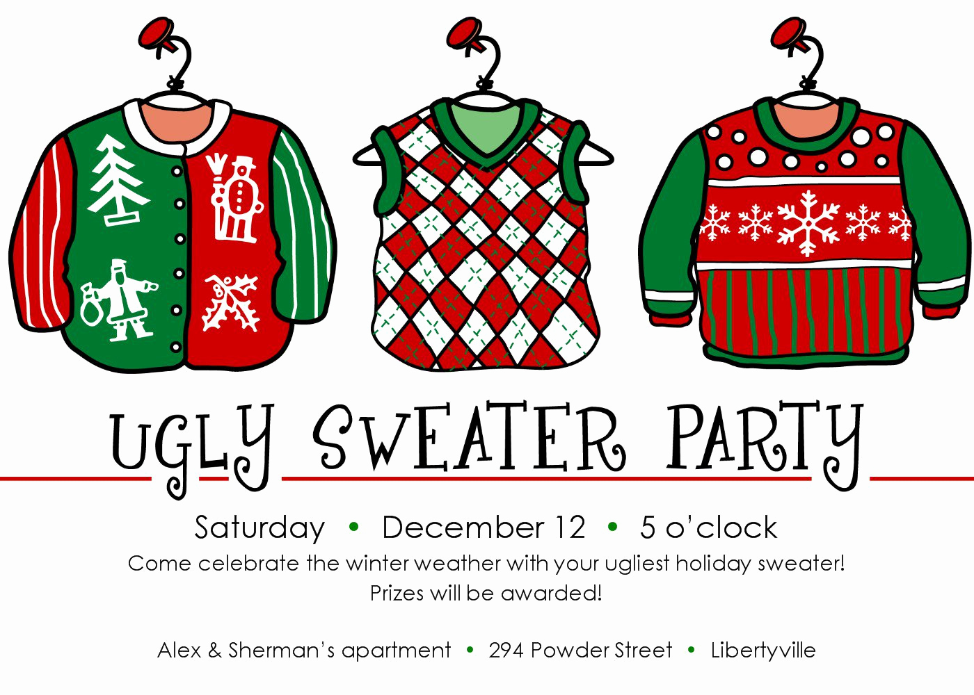 Ugly Sweater Invitation Template Free Luxury Printable Christmas Party Flyer Templates