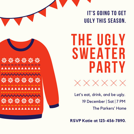 Ugly Sweater Invitation Template Inspirational Customize 7 886 Invitation Templates Online Canva