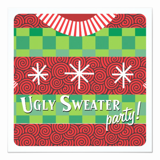 Ugly Sweater Invitation Template Unique Holiday Ugly Sweater Party Invitation