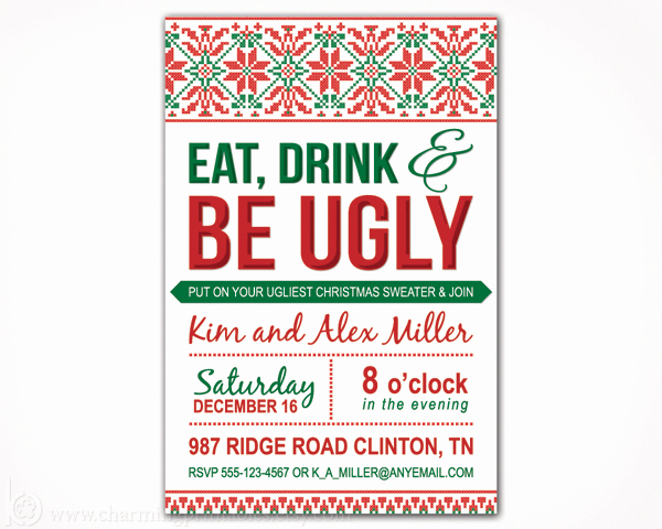 Ugly Sweater Party Invitation Free Fresh Ugly Sweater Party Invitation – Charming Printables