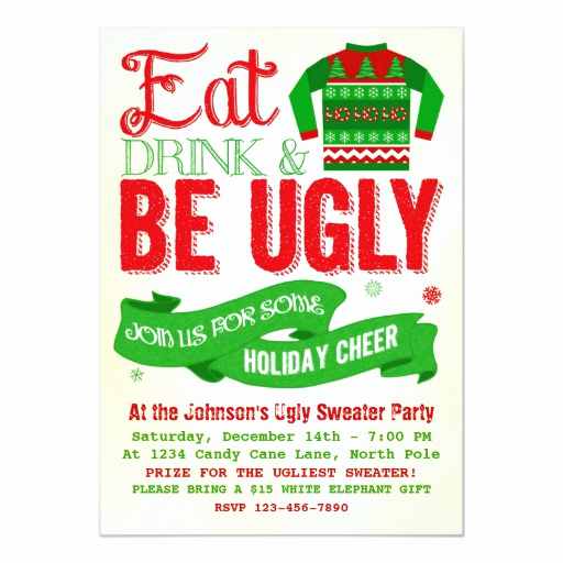 Ugly Sweater Party Invitation Free Inspirational Ugly Sweater Christmas Party Holiday Invitation