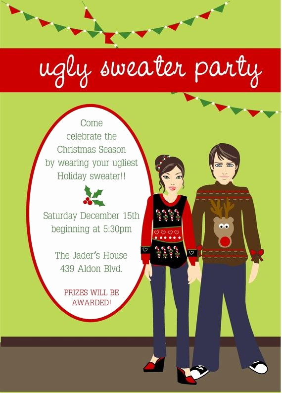 Ugly Sweater Party Invitation Free New Ugly Sweater Christmas Party Invitation