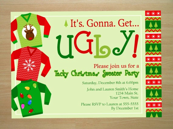 Ugly Sweater Party Invitation Lovely Unavailable Listing On Etsy