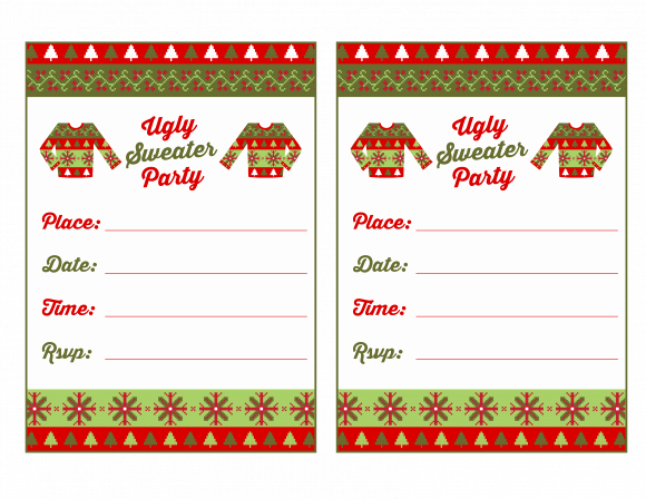 Ugly Sweater Party Invitation New Free Ugly Sweater Party Printables