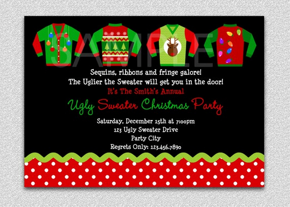 Ugly Sweater Party Invitation Templates Elegant Items Similar to Ugly Sweater Party Invitation Holiday
