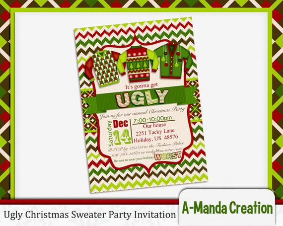 Ugly Sweater Party Invitation Templates Inspirational Gallery Ugly Christmas Sweater Invitation Template