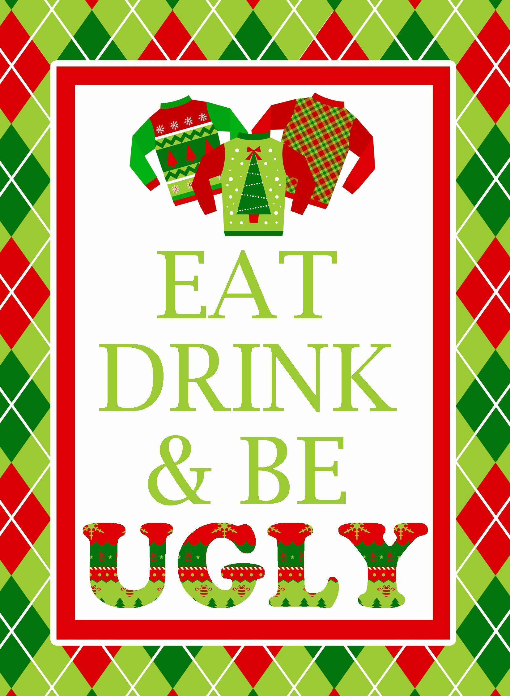 Ugly Sweater Party Invitation Templates Lovely Ugly Sweater Invitation Template Free Ugly Sweater Party