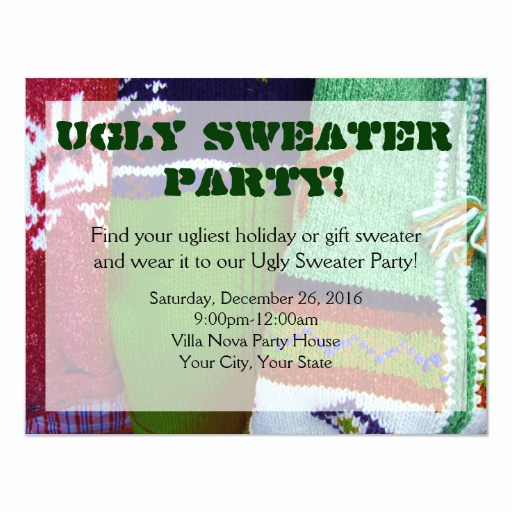 Ugly Sweater Party Invitation Templates Lovely Ugly Sweater Party Invitations