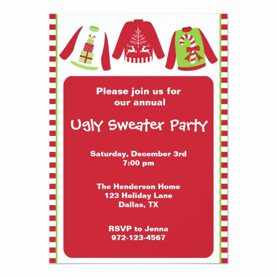 Ugly Sweater Party Invitation Templates Luxury Ugly Christmas Sweater Party Invitations