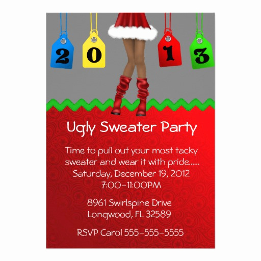 Ugly Sweater Party Invitation Templates Luxury Ugly Christmas Sweater Party Invites 700 Ugly Christmas