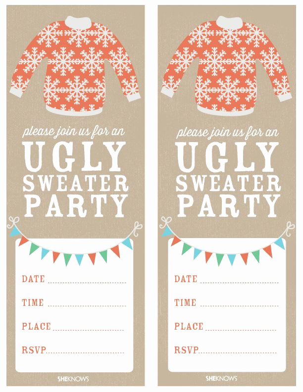 Ugly Sweater Party Invitation Templates New Ugly Sweater Party