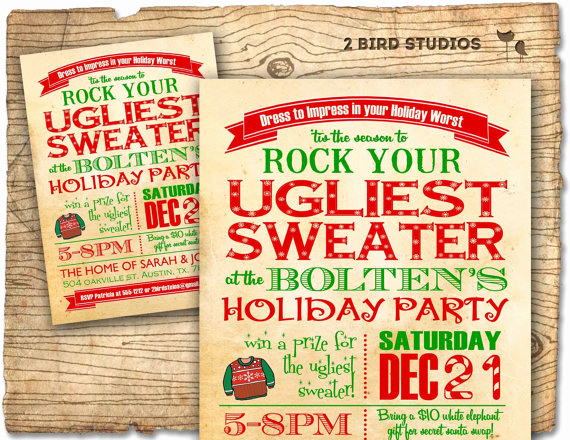 Ugly Sweater Party Invitation Templates Unique Holiday Party Invitation Ugly Sweater Christmas Party