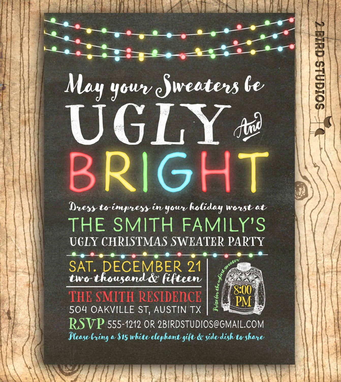 Ugly Sweater Party Invitation Unique Ugly Christmas Sweater Invitation Ugly Sweater Party