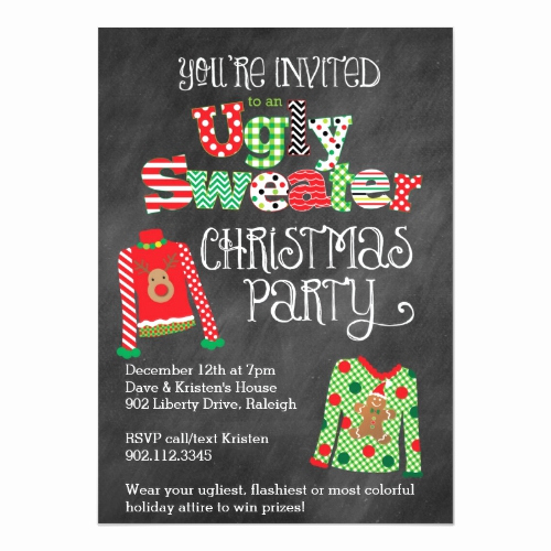 Ugly Sweater Party Invitation Wording Elegant Ugly Christmas Sweater Party Ideas & Invitations