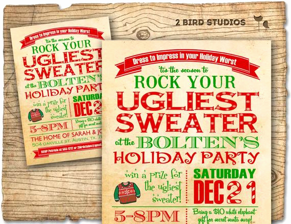 Ugly Sweater Party Invitation Wording Inspirational Holiday Party Invitation Ugly Sweater Christmas Party