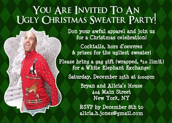 Ugly Sweater Party Invitation Wording Inspirational Items Similar to Ugly Sweater Invitation Christmas Party