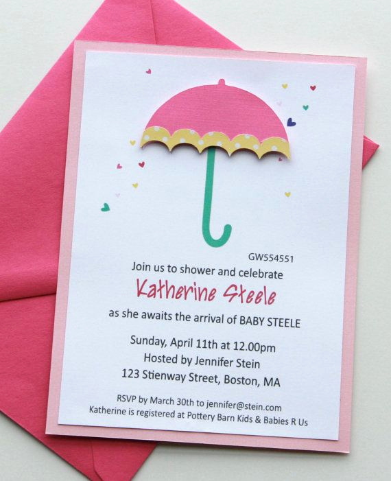 Umbrella Baby Shower Invitation Inspirational 50 Best Images About Umbrella butterflies Bows Baby