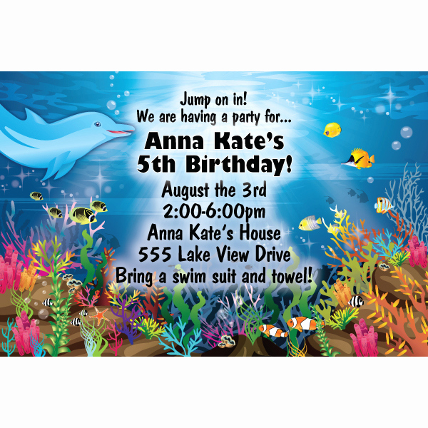 Under the Sea Invitation Template Awesome Free Printable Under the Sea Birthday Party Invitations